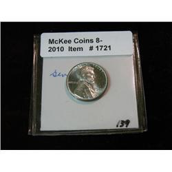 1721. 1943 P Lincoln Cent. Gem BU.