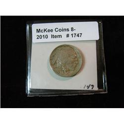1747. 1913 D Type One Buffalo Nickel. EF 40.