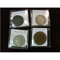 1775. (6) Foreign Coins including a large copper dated 1814 marked Anwers.