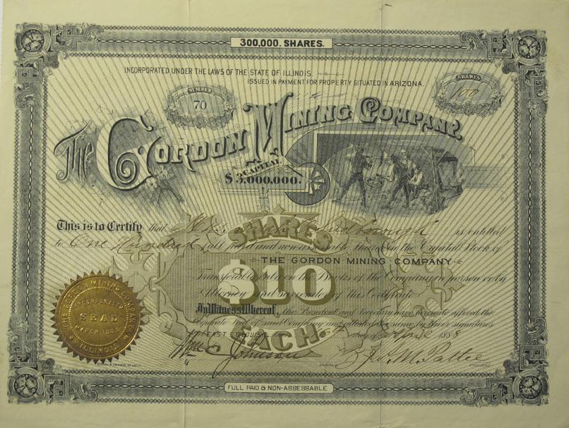 Tombstone,AZ - Cochise County - April 16, 1888 - Gordon