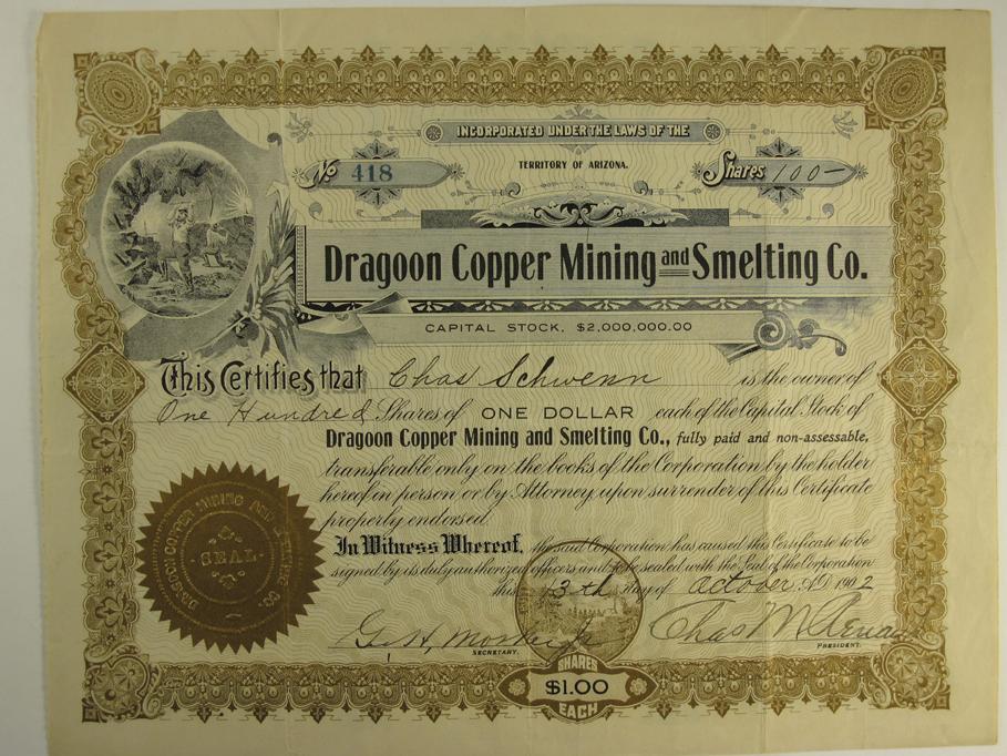 Tombstone,AZ - Cochise County - Dragoon Copper Mining