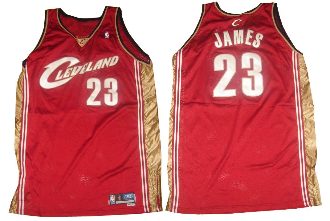 the latest 58c84 2a552 LeBron James Game Worn Jersey