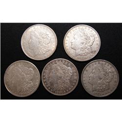 1921 - FIVE SILVER DOLLARS