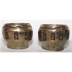 2007 BRASS CANDLE HOLDERS