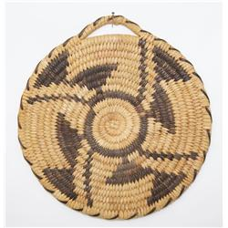 1960'S PAPAGO BASKETRY PLAQUE
