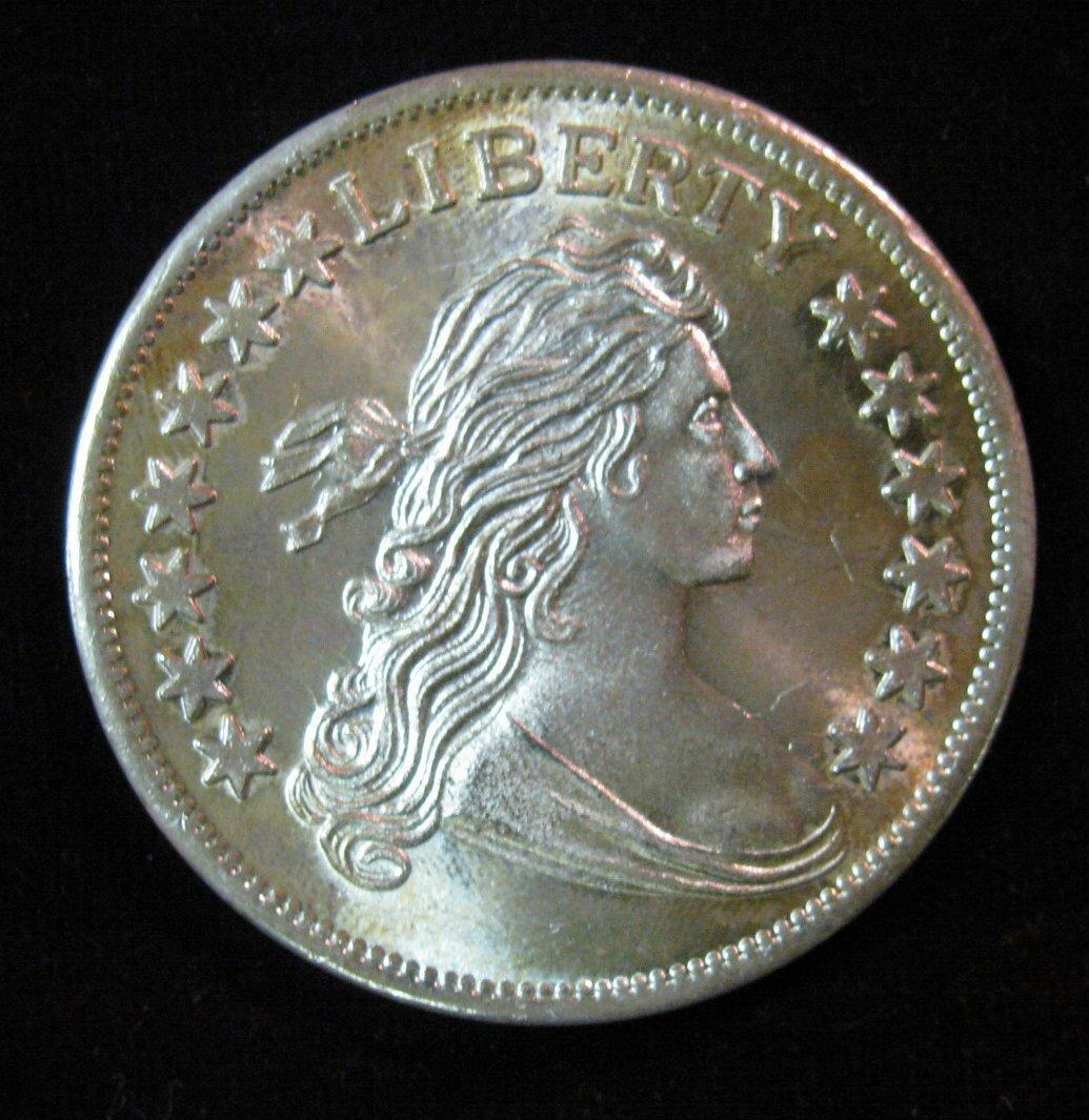 29 Bust Dollar Design One Troy Ounce 999 Fine Silver Bu