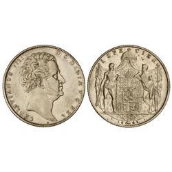 WORLD COINS: DENMARK - 1 Speciedaler. 1845-VS. CHRISTIAN VIII. AR. KM-720.3. MBC+/MBC.