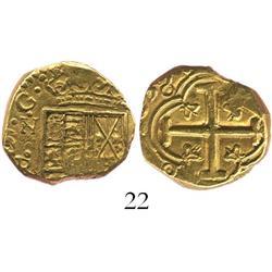 Bogota, Colombia, cob 2 escudos, 1639(A), rare.