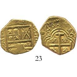 Bogota, Colombia, cob 2 escudos, (1)646R, bold date, rare.
