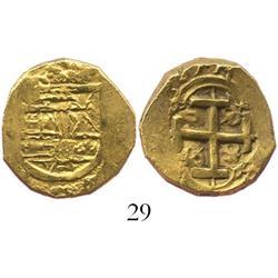 Bogota, Colombia, cob 2 escudos, (1)689, assayer not visible (Garcia).