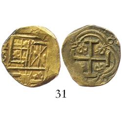Bogota, Colombia, cob 2 escudos, Charles II, assayer not visible.