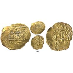 Bogota, Colombia, cob 2 escudos, (170)5, from the 1715 Fleet.