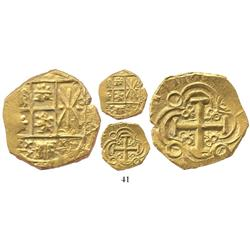 Bogota, Colombia, cob 2 escudos, 1711, from the 1715 Fleet, choice.