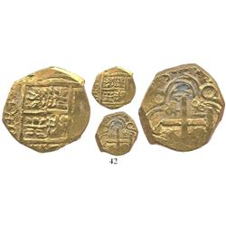 Bogota, Colombia, cob 2 escudos, (1)713, from the 1715 Fleet.