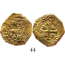 Bogota, Colombia, cob 2 escudos, Philip V, assayer A (1716-21).