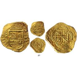 Cartagena, Colombia, cob 2 escudos, Philip IV, assayer E (1630?), Plate Coin in Restrepo.