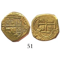 Cartagena, Colombia, cob 2 escudos, Philip IV, assayer E (1634).