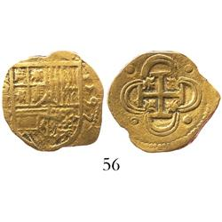 Seville, Spain, cob 2 escudos, 1597B, full date.