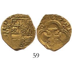 Seville, Spain, cob 2 escudos, Philip III, 1619G.