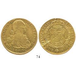 Potosi, Bolivia, bust 8 escudos, Charles IV, 1800PP.