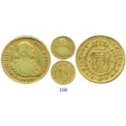 Santiago, Chile, bust 1 escudo, Charles IV, 1798DA.