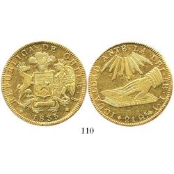 Santiago, Chile, 8 escudos, 1835IJ.