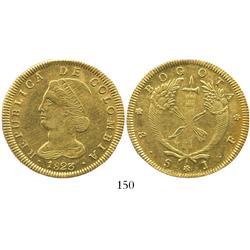 Bogota, Colombia, 8 escudos, 1823JF.