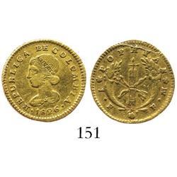 Popayan, Colombia, 1 escudo, 1826FM.
