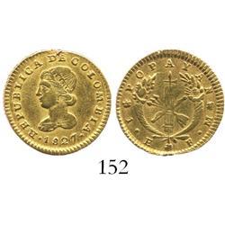 Popayan, Colombia, 1 escudo, 1827FM.