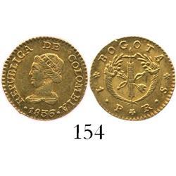 Bogota, Colombia, 1 peso, 1836RS.