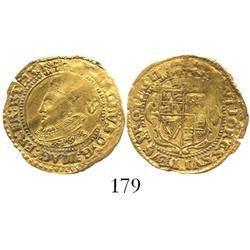 London, England, crown (5 shillings), Charles I (Group A, 1st bust), mintmark lis (1625).