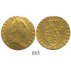 "London, England, ""spade"" guinea, George III, 1788."