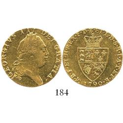 "London, England, ""spade"" guinea, George III, 1790."