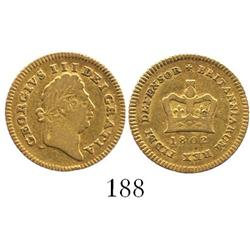 London, England, 1/3 guinea, George III, 1802.