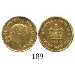 London, England, 1/3 guinea, George III, 1810.