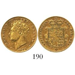London, England, half sovereign, George IV, 1828.