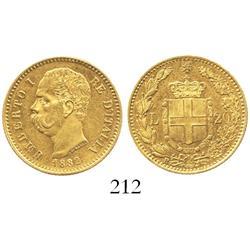Rome, Italy (Kingdom), Umberto I, 20 lire, 1882-R.