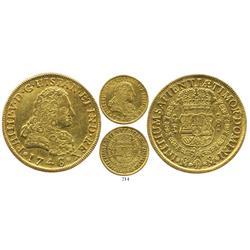 Mexico City, Mexico, bust 8 escudos, Philip V, 1746/5MF, scarce.