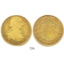 Mexico City, Mexico, bust 8 escudos, Charles III, 1780FF.