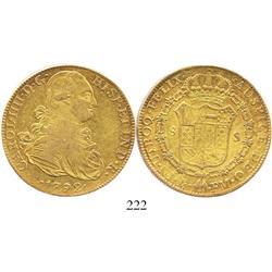 Mexico City, Mexico, bust 8 escudos, Charles IV, 1792FM.
