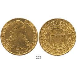 Mexico City, Mexico, bust 8 escudos, Charles IV, 1800FM.