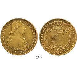 Mexico City, Mexico, bust 8 escudos, Charles IV, 1803FT.