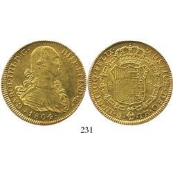 Mexico City, Mexico, bust 8 escudos, Charles IV, 1804/3TH.