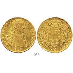 "Mexico City, Mexico, bust 8 escudos, Ferdinand VII (""armored"" bust), 1809HJ."