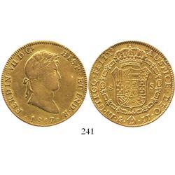 Mexico City, Mexico, bust 8 escudos, Ferdinand VII, 1817JJ.