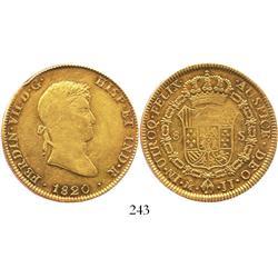 Mexico City, Mexico, bust 8 escudos, Ferdinand VII, 1820JJ.