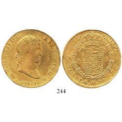 Mexico City, Mexico, bust 8 escudos, Ferdinand VII, 1821JJ.