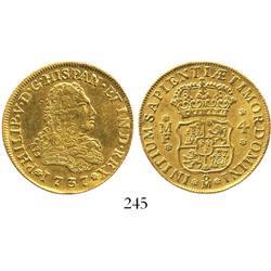 Mexico City, Mexico, bust 4 escudos, Philip V, 1737MF, rare.