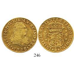 Mexico City, Mexico, bust 4 escudos, Philip V, 1738/7MF, rare.