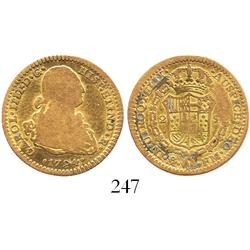 Mexico City, Mexico, bust 2 escudos, Charles IV, 1794FM.